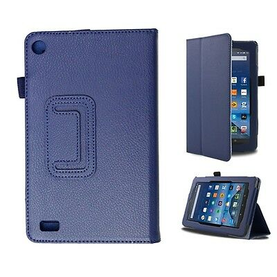 Smart Stand Leather Folio Case Cover For 2015 NEW Amazon Kindle Fire 7'' inch