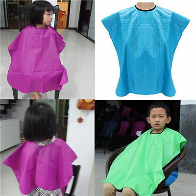 Useful Child Salon Waterproof Hair Cut Hairdressing Barbers Cape Gown Cloth New
