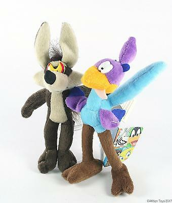 LOONEY TUNES classic WILE E COYOTE + ROAD RUNNER plush soft toy cartoon TV - NEW