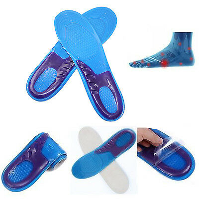 Orthotic Comfort Gel Insole Shock Absorber Heel Arch Feet Foot Support Padded