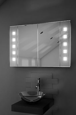 Illuminated Bathroom Mirror Cabinet with Sensor and Shaver -  c70LED
