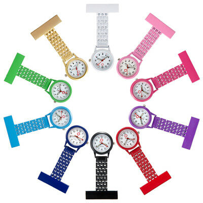Acier Montre Infirmière Attache Broche Pince Epingle Tunique Nurse Multicolor
