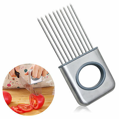 Onion Holder Slicer Tomato Vegetable Cutter Stainless Steel Kitchen Gadget Tools