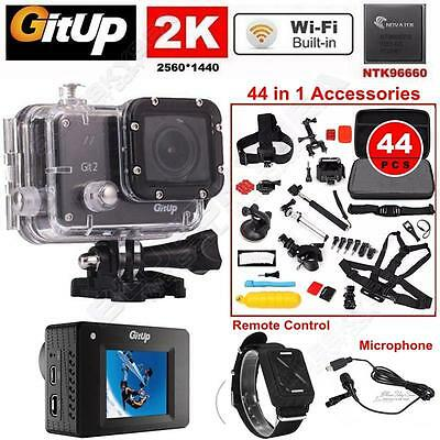 16M Ultra 2K Gitup Git2 Sports Camera Action Camera+Mic+Remote+44in1 Accessories