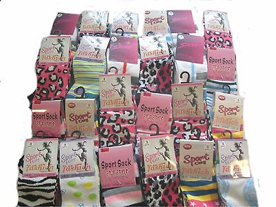 Wholesale Job Lot  ASSORTED  240 pairs ladies size 4-7 Designer trainer socks
