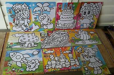 Sand Art Kit (7) : Set of 10 Mixed Set for School Fete, Craft, Party (Brand New)