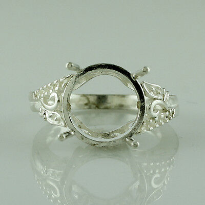 Semi Mount Round Shape 12.00 MM Authentic Ring 925 Sterling Silver Gift Jewelry