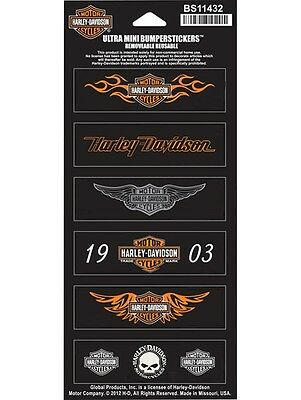 Harley Davidson Aufkleber-/Stickerset Modell Decal Straight Wings B&S HD