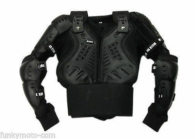 Adulte Corps Armure Veste Motocross Mx Enduro Off Road Noir Protection