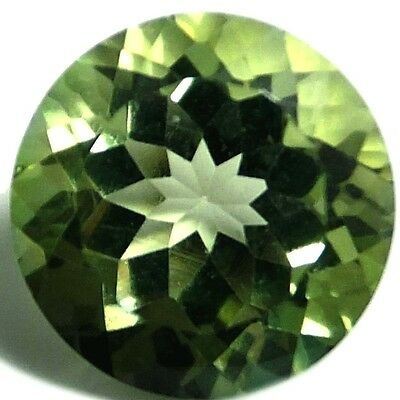 NATURAL OUTSTANDING GREEN TOPAZ LOOSE GEMSTONES (10.0 mm) ROUND CUT