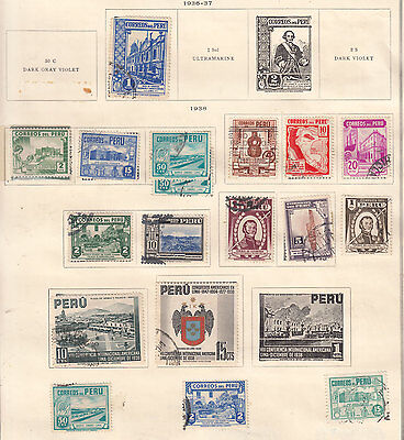 PERU ^^^^^^1936-38   mint  & used    hcv @ f2035xxbpou