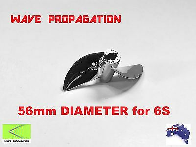 Original HydroPro Inception 56mm Chrome Plated Propeller for 6S Set-Up RC Boat