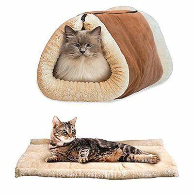 Pet Living Kitty Tunnel 2-In-1 Tunnel Bed & Mat (Pet6417)