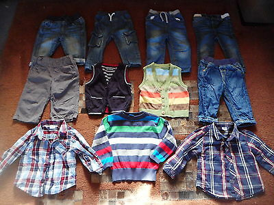 Baby boys clothes aged 9-12 months Jeans Jumper Shirts Waistcoat
