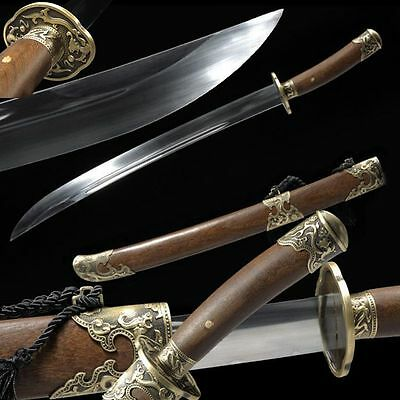 High Quality Chinese Sword Qing Dao Broadsword High Manganese Steel Sharp Blade