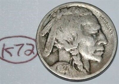 United States 1927 D Buffalo Nickel USA Indian 5 Cents Coin Lot #K72