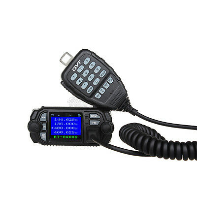 QYT KT-8900D Dual Band VHF UHF 25W Mini Color Screen 4-Standy Mobile Radios MIC