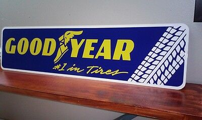 "GoodYear #1 in Tires metal sign 6"" x 24"""