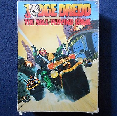 1985 Judge Dredd The Roleplaying Game Games Workshop 2000 AD Sci Fi RPG Book GW