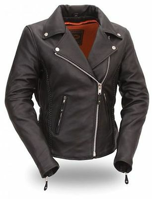 Women Motorcycle Motorbike Biker Racing Leather Jacket CE Approved Armour