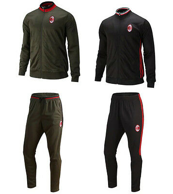 Adult Men's AC Milan Tracksuits Soccer 2016/17 Football Training Jacket&Pants