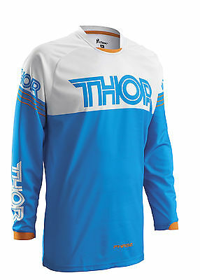 Thor Phase Hyperion 2016 Youth MX/Offroad Jersey Blue/White/Orange