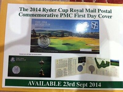 The  2014 Ryder cup 2014 Royal Mail Postal Commemorative PMC First Day Cover