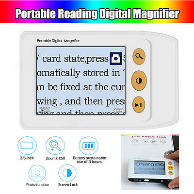 """3.5"""" LCD Portable Electronic Digital Magnifier Reading Aid for Low Vision TV 25X"""