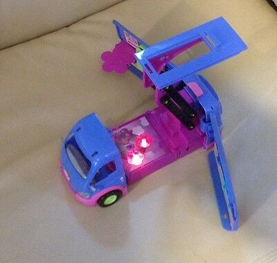Polly pocket camper van toy with lights and disco sound