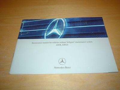 MERCEDES SERVICE BOOK AXOR ATEGO TRUCKS VANS Owners Maintenance Handbook Manual
