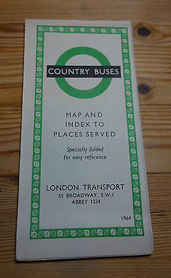 London Transport Country Bus Route Map 1964 (151)