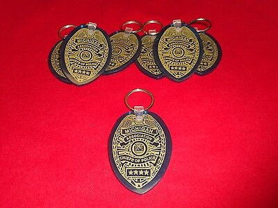 Vintage Lot of 7 MICHIGAN ASSOCIATION CHIEFS of POLICE Rubber Gel Keychain OHSP