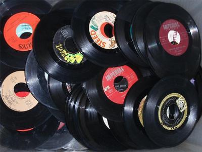 """45 RPM 7"""" Records For Crafting LOT of (50) 50's-60's-70's PARTY DECOR-WON'T PLAY"""