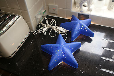 2 Lamps Star Shaped Wall or Free Standing