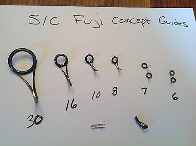 Fuji SIC Concept Guides Titanium Colored spinning guides