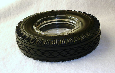 Vintage Goodyear Tire Ashtray Clear Glass Insert