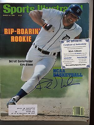 Kirk Gibson Signed Sports Illustrated 3/24/80 Issue Detroit Tigers MLB
