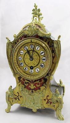 Antique Late 19th c. Boulle Mantle Clock