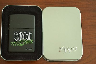 ZIPPO Lighter, SoCo Lime (Southern Comfort), Black, Sealed, M470
