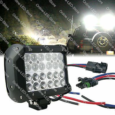 "6.5"" 72W CREE LED Off Road Work Light Bar For Jeep Tow Truck Snow Plow SUV Van"