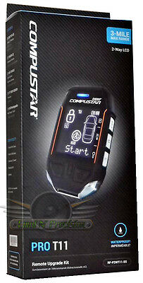 NEW COMPUSTAR RF-P2WT11-SS & FT7000AS PRO T11 2-Way Remote With 3-Mile Range