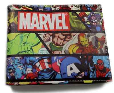 The Avengers Marvel Comics Purses Bi-Fold Leather Wallet New 2016