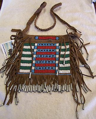 Mountain Man Rendezvous Black Powder Hand Made Seed Beaded Medicine Pouch 41