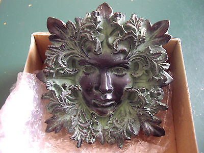 Green Man Wall Plaque The Greenwood Tree Enchantress  Free P&P