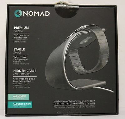 Nomad - Space Gray Charging Stand (stand-apple-sg-001) for Apple Watch - New!