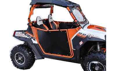 Polaris RZR Doors, Fit XP 900, 570, 800, Bear Claw Style, Orange/Black USA MADE
