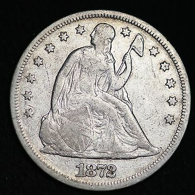 1872 Seated Liberty Dollar CHOICE FINE FREE SHIPPING E247 NHM