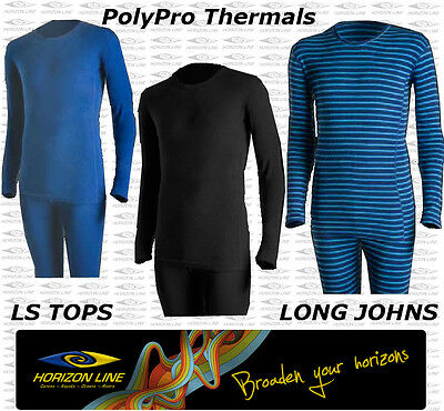 Kids PolyPro Thermal Pants Polypropylene Long Sleeve Johns Thermals underwear