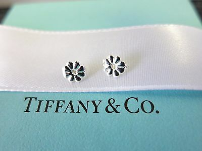 NEW Tiffany & Co. 925 Two Sterling Silver Flower Replacement Earring Backs