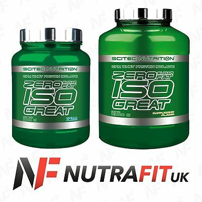 SCITEC NUTRITION ZERO SUGAR FAT ISOGREAT CFM whey isolate protein iso great
